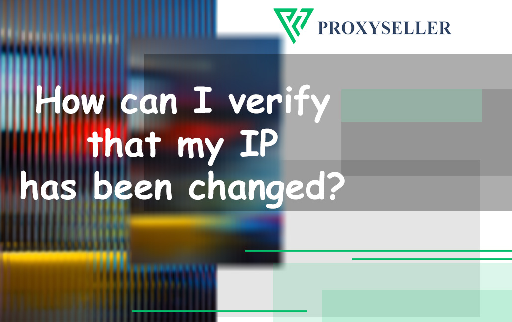 How can I verify that my IP has been changed?