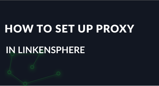 How to set up a proxy in LinkenSphere