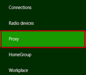 Go to the «Network» window. Select the «Proxy» category